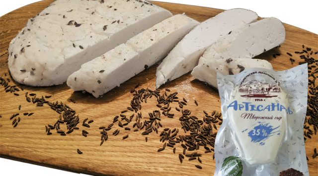 Творожный сыр «Артесаналь»  с тмином 35% жирности